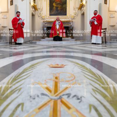 L‑Arċisqof jitlob l‑Uffiċċju tal‑Qari u t‑Tifħir ta' Sbiħ il‑Jum mill‑Kappella tal‑Madonna ta' Manresa – 02/04/21