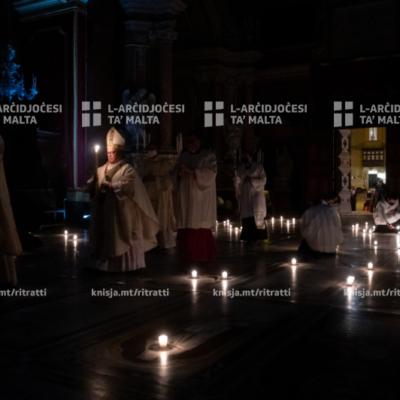 Liturġija tal‑Vġili tal‑Għid, fil‑Katidral ta' San Pawl, l‑Imdina  – 03/04/21