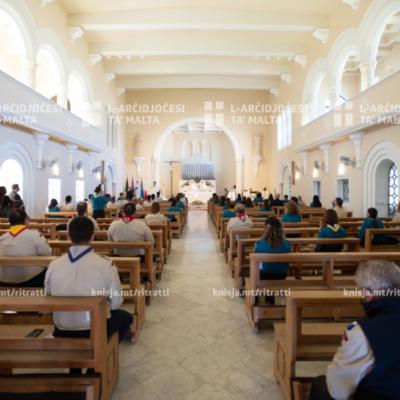 Il-quddiesa annwali mal-Iscouts u l-Girl Guides mill‑Knisja tas‑Seminarju tal‑Arċisqof, Tal‑Virtù – 25/04/21