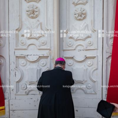 L‑Arċisqof iċċelebra quddiesa fil‑Knisja ta' Santa Ubaldeska, Raħal Ġdid, wara li sarilha xogħol ta' manutenzjoni – 27/05/21