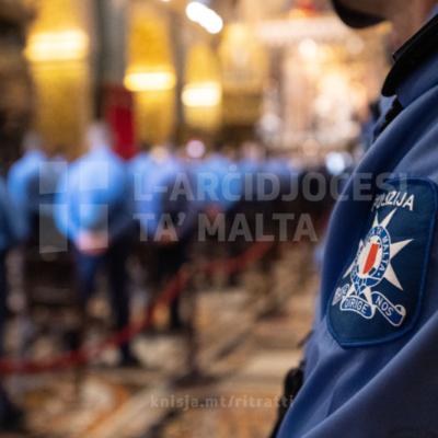 Quddiesa fil-Konkatidral ta' San Ġwann, il-Belt Valletta, fl-okkażjoni ta' Jum il-Pulizija – 12/07/21