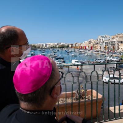 Quddiesa fil-festa ta' Sant'Anna u l-ewwel Jum Dinji tan-Nanniet u l-Anzjani, mill-Knisja Parrokkjali ta' Sant'Anna, Wied il-Għajn – 25/07/21