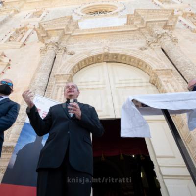 Inawgurat restawr li sar b'fondi tal-Unjoni Ewropea fil-knisja parrokkjali ta' Ħ'Attard – 13/08/21