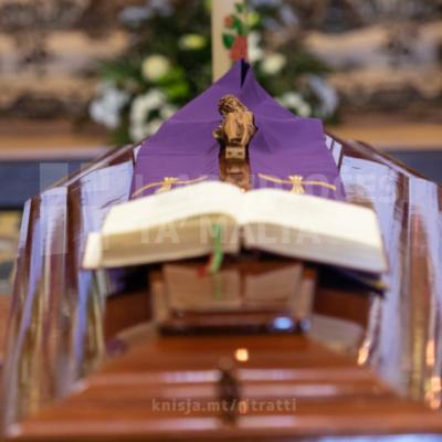 L‑Arċisqof iċċelebra quddiesa tal‑funeral ta' Dun Nicholas Cachia, fil‑Knisja Parrokkjali ta' San Nikola, is‑Siġġiewi  – 13/08/21