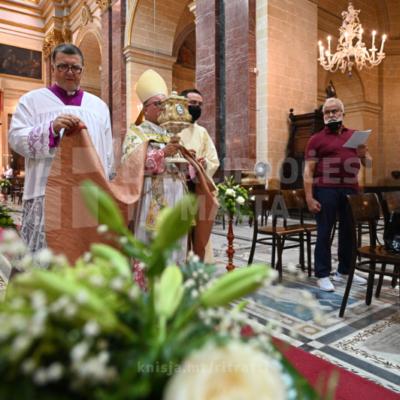 Traslazzjoni tar-relikwa, l-Ewwel Għasar solenni u quddiesa tal-vġili fil-festa ta' Santa Marija Mtellgħa s-Sema – 14/08/21