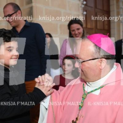 Viżta Pastorali San Sebastjan, Ħal Qormi: Quddiesa fil-Ftuħ tal-Viżta Pastorali – 25/03/17
