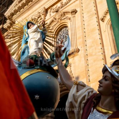 L-Arċisqof jiċċelebra pontifikal fil-Knisja Arċipretali u Kolleġġjata ta' Marija Bambina, in-Naxxar – 08/09/21