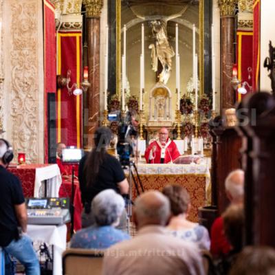 L-Arċisqof iċċelebra quddiesa fil-festa tal-Eżaltazzjoni tas-Salib Imqaddes, fil-Knisja ta' Santa Marija ta' Ġesù (Ta' Ġieżu), il-Belt Valletta – 14/09/21