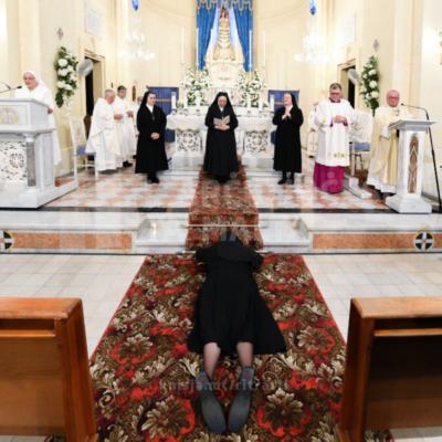 Quddiesa li fiha Sr Maria Cilia ħadet il-voti perpetwi fil-Knisja tal-Madonna ta' Loreto, Gwardamanġa – 02/10/21