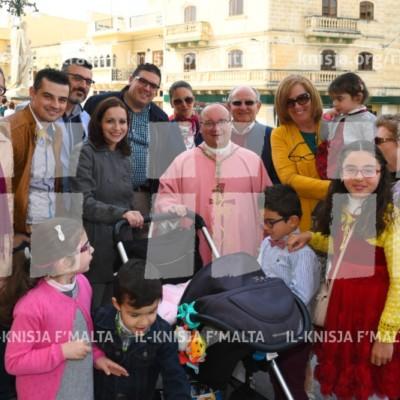 Viżta Pastorali San Sebastjan, Ħal Qormi: Quddiesa mat-tfal u laqgħa mal-katekisti u membri tal-Kunsill Lokali – 26/03/17