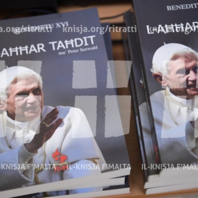 """Tnedija tal-ktieb """"L-Aħħar Taħdit"""" dwar il-Papa Emeritu Benedittu XVI – 21/04/17"""