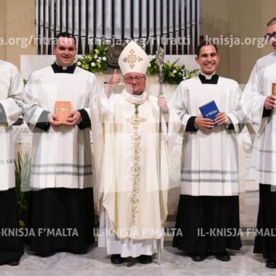 L-Arċisqof jagħti l-Ministeru tal-Lettorat lill-erba' seminaristi – 19/05/17