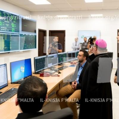 L-Arċisqof iżur il-Control Centre l-ġdid tal-Enemalta u lill-ħaddiema – 29/05/17