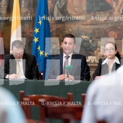 Konferenza tal-aħbarijiet dwar ir-rapport finanzjarju 2016 tal-Arċidjoċesi ta' Malta – 07/08/17