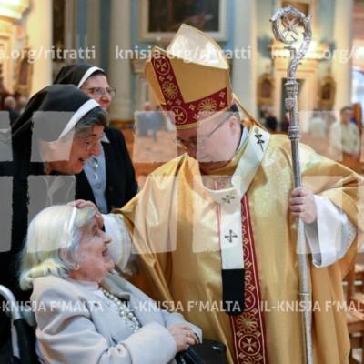 Quddiesa f'għeluq il-ħames anniversarju tal-ordinazzjoni episkopali tal-Arċisqof – 24/11/17