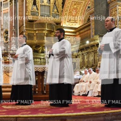 Quddiesa fil-festa tal-Epifanija tal-Mulej u l-kandidatura ta' erba' seminaristi – 07/01/18