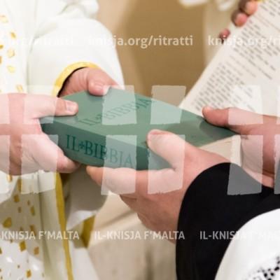 L-Arċisqof jagħti l-Ministeru tal-Lettorat lil ħames seminaristi – 12/02/18