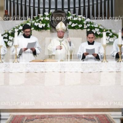 Quddiesa tal-Wegħda tal-Għoti taċ-Ċelibat ta' erba' seminaristi – 16/04/18
