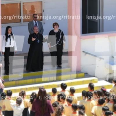 Viżta Pastorali Ħal Safi: L-Arċisqof jiltaqa' mal-istudenti, mal-edukaturi u l-komunità tal-ħaddiema – 07/05/18