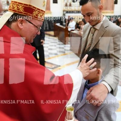 L-Arċisqof imexxi l-Quddiesa ta' Pentekoste u jamministra s-Sagrament tal-Griżma fil-Belt Valletta – 20/05/18