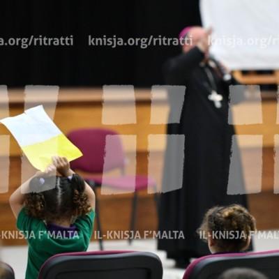Viżta Pastorali Siġġiewi: Laqgħa mal-Istudenti u Staff tal-Iskola Primarja tal-Kulleġġ San Injazju, u żjara l-Kappella tal-Providenza – 28/05/18