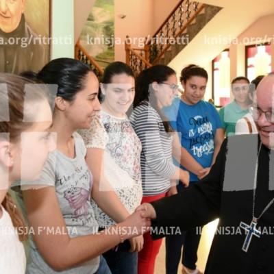 Viżta Pastorali Siġġiewi: Laqgħa mal-adolexxenti tal-MUSEUM u laqgħa maż-Żagħżagħ tal-gruppi ŻAK u Faith Alive – 29/05/18
