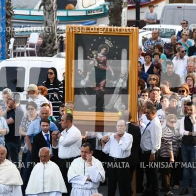 Quddiesa u Pellegrinaġġ quddiem il-Knisja tal-Madonna ta' Pompej, Marsaxlokk – 08/05/18
