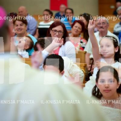 Quddiesa tal-Ewwel Tqarbina ta' Tfal li jattendu Skola St Francis, fis-Santwarju Santa Tereża Bambin Ġesù, Birkirkara – 06/06/18