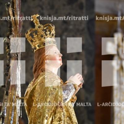 Quddiesa fl-anniversarju tal-Inkurunazzjoni ta' Marija Bambina, fil-Bażilika Minuri tal-Isla. – 04/09/18