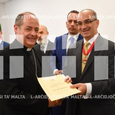 L-għoti ta' Ġieħ Ħal Balzan lill-President ta' Malta u l-Isqof Awżiljajru, Parroċċa Ħal Balzan – 16/09/18
