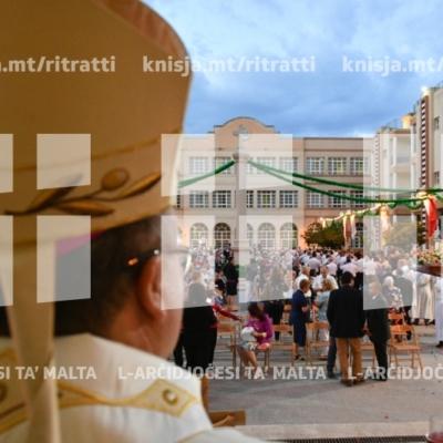 L-Arċisqof jiċċelebra Quddiesa fil-festa ta' San Vinċenz de Paul, fir-residenza tal-anzjani San Vinċenz de Paul, Ħal Luqa – 27/09/18