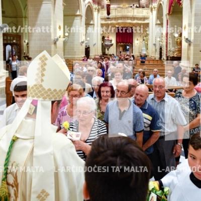 Quddiesa fil-bidu tal-Missjoni ż-Żgħira u l-festa ta' Santa Tereża ta' Lisieux, fil-parroċċa ta' Ħal Luqa – 01/10/18