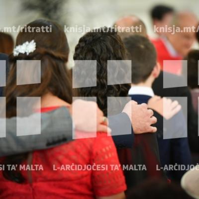 L-għoti tas-Sagrament tal-Griżma tal-Isqof lill-adolexxenti tal-Baħrija – 21/10/18