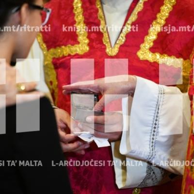 L-għoti tas-Sagrament tal-Griżma tal-Isqof lill-adolexxenti tal-parroċċa tal-Gudja – 21/10/18
