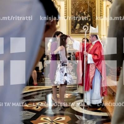 L-għoti tas-Sagrament tal-Griżma tal-Isqof lill-adolexxenti tal-parroċċa ta' Ħal Safi – 28/10/18