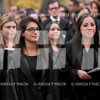Quddiesa ta' Ringrazzjament għall-Gradwati l-Ġodda tal-Università ta' Malta – 21/11/16