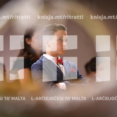 Is-Sagrament tal-Griżma tal-Isqof lill-adolexxenti taż-żona pastorali tax-Xgħajra – 11/11/18