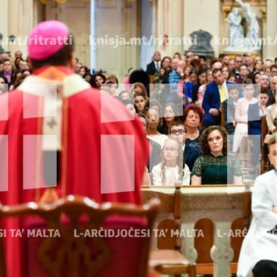 Is-Sagrament tal-Griżma tal-Isqof lill-adolexxenti tal-parroċċa taż-Żurrieq (Santa Katarina) – 11/11/18