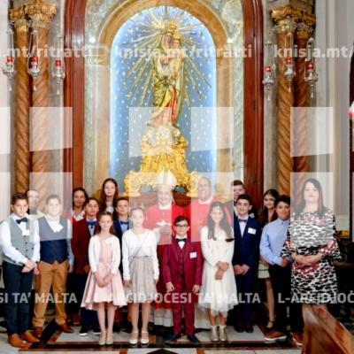 Is-Sagrament tal-Griżma tal-Isqof lill-adolexxenti tal-parroċċa tas-Sacro Cuor, Tas-Sliema – 19/11/18