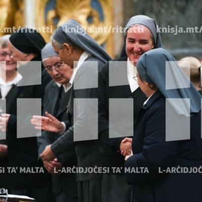 Quddiesa f'għeluq il-150 sena tas-Sorijiet tal-Karità f'Malta, fil-Konkatidral ta' San Ġwann – 01/12/18
