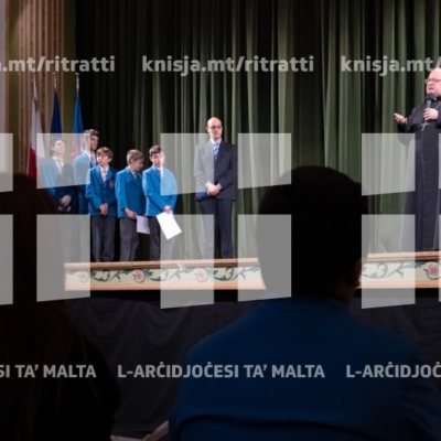 Żjara mill-Arċisqof fil-kulleġġ ta' San Alwiġi – 26/11/18