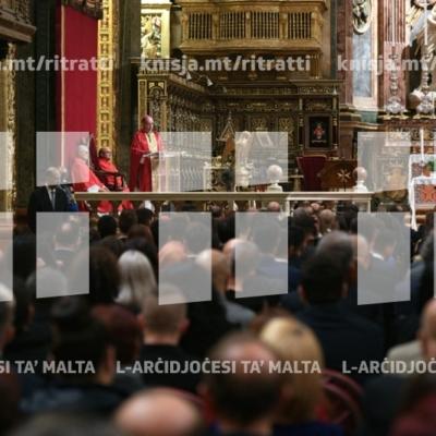 Quddiesa ta' ringrazzjament għall-gradwati ġodda tal-MCAST fil-Konkatidral ta' San Ġwann – 30/11/18