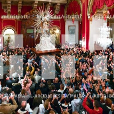 Quddiesa fil-bidu tan-Novena bi tħejjija għall-festa tal-Immakulata Kunċizzjoni, f'Bormla – 28/11/18