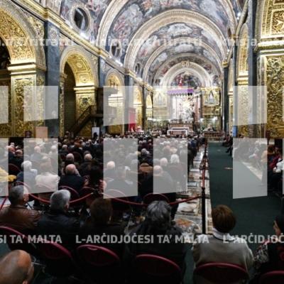 Quddiesa għall-familji organizzata mill-GRUFAN, fil-Konkatidral ta' San Ġwann – 15/12/18