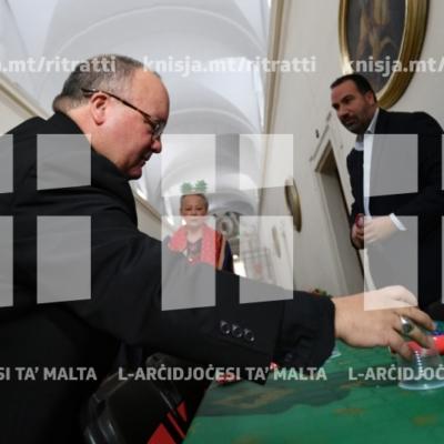 Preparamenti għall-ikla tal-Milied minn Caritas Malta fil-Kurja tal-Arcisqof – 22/12/18