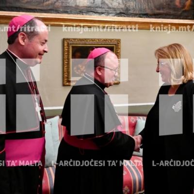 Bdil tal-awguri għas-sena l-ġdida bejn l-Isqfijiet u l-awtoritajiet tal-pajjiż – 20/12/18