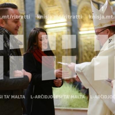 Quddiesa għall-koppji li żżewġu matul l-2018, fil-Konkatidral ta' San Ġwann – 05/01/19