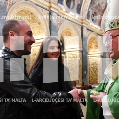 Quddiesa għall-koppji li se jiżżewġu matul l-2019, fil-Konkatidral ta' San Ġwann – 19/01/19