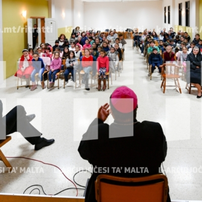 Laqgħa mat-tfal, katekisti u l operaturi pastorali tal-parroċċa ta' Santa Luċija – 21/01/19