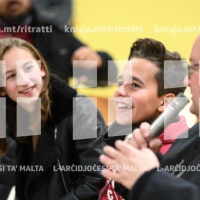 Laqgħa ta' djalogu mal-adolexxenti tal-parroċċa ta' Santa Luċija waqt Viżta Pastorali f'din il komunità – 28/01/19